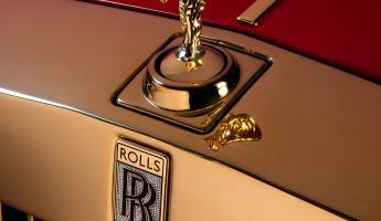 The Spirit of Ecstasy is crafted from 24k gold