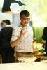 Koe Pak-Juan playing champagne pong