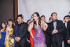 Grace Kong croons a tune for her guests