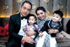 Derick Wong and Lorna Soh with their children