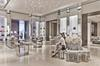 The interiors of the Dior boutique