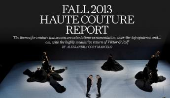 Fall 2013 Haute Couture Report
