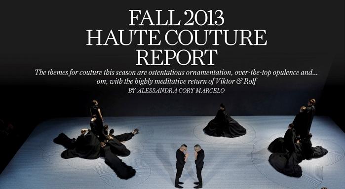 Fall 2013 Haute Couture Report