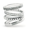 White gold rings from Damiani