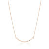 Tiffany T necklace in 18k rose gold