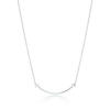 Tiffany T necklace in 18k white gold