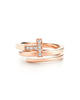 Tiffany T ring in 18k rose gold