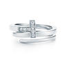 Tiffany T ring in 18k white gold