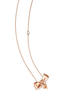 Damiani Fiocco Necklace in pink gold and diamonds