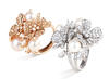 Damiani Masterpiece Fiori D'Arancio Rings in pink or white gold with diamonds and pearls