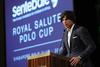 Nacho Figueras address VIP guests at the 2017 Sentebale Royal Salute Polo Cup gala dinner at the St. Regis Singapore