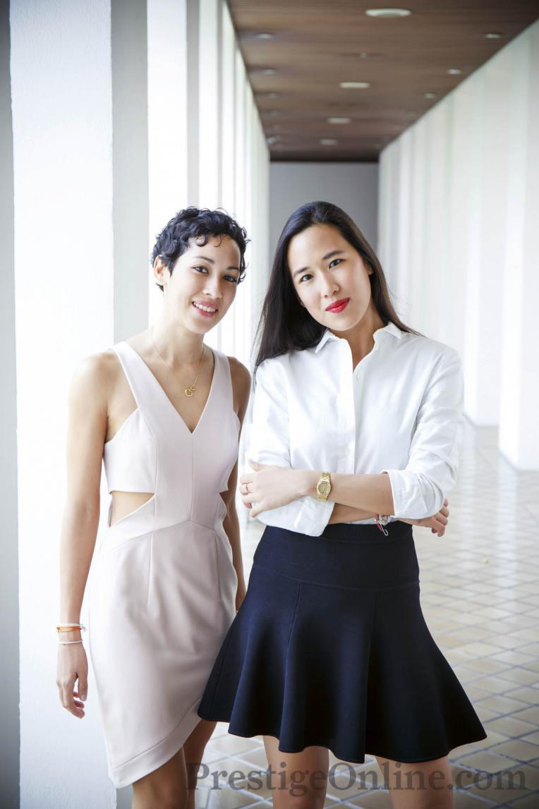 Dalad Tantiprasongchai and Supatra Bromilow at Sukhothai Hotel; Photo courtesy Kaan Suchanin; PrestigeOnline
