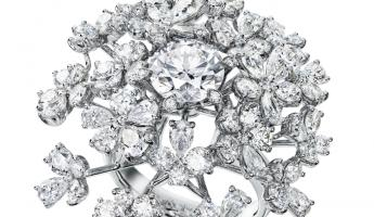 TASAKI WILD BOUQUET RADIANT鑽石鉑金戒指