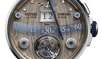 Ulysse Nardin 推出的Grand Deck大航海旗艦陀飛輪