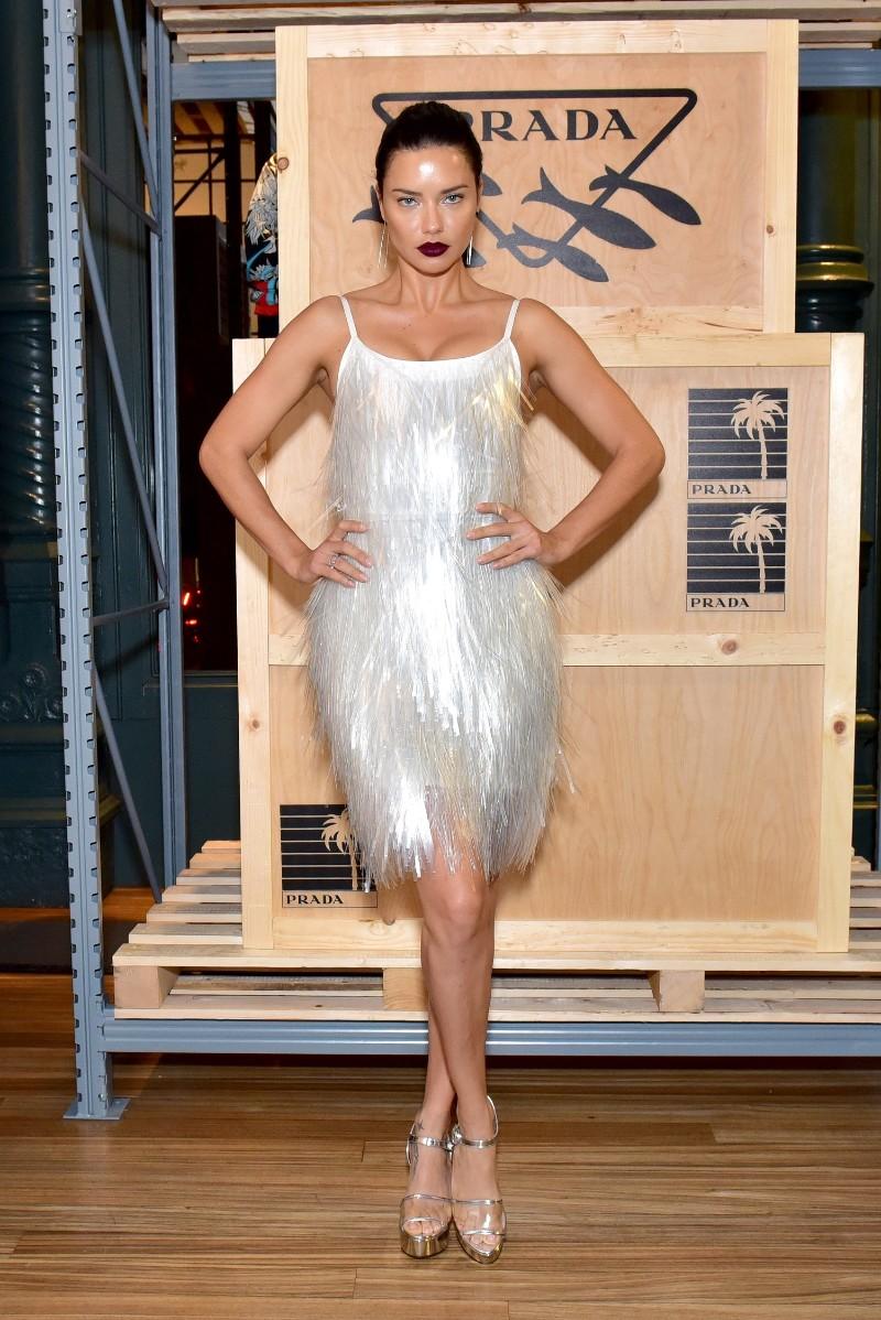 69e37becc0de8 Adriana Lima in Prada FW18-19 collection at Prada Linea Rossa event at Prada  Broadway. (Getty)