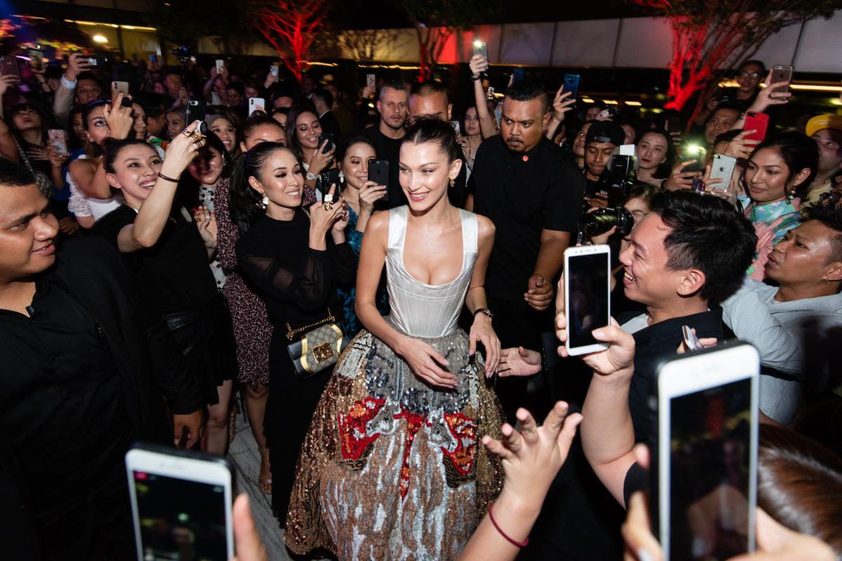 Event gallery: Bella Hadid makes a big splash in Kuala Lumpur