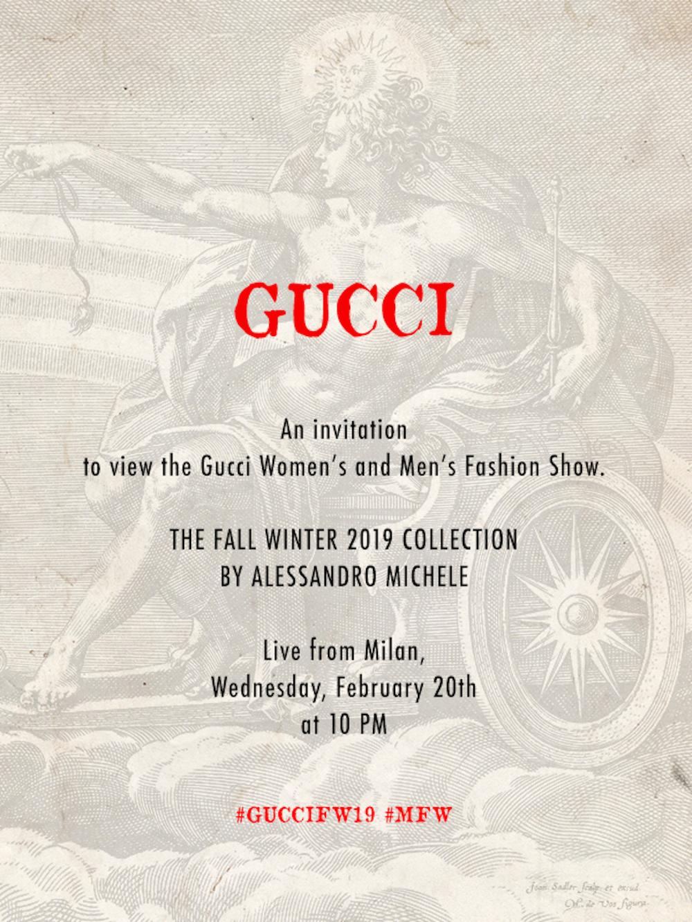 a5154054198b Watch Gucci Fall Winter 2019 fashion show