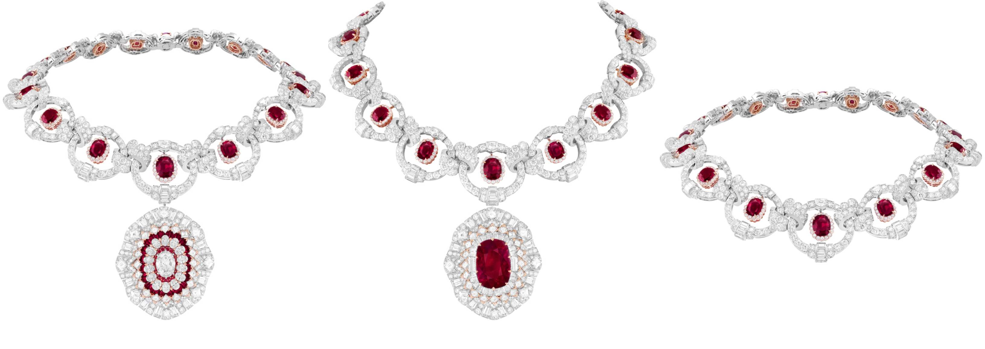 Rubis Flamboyant Transformable Necklace