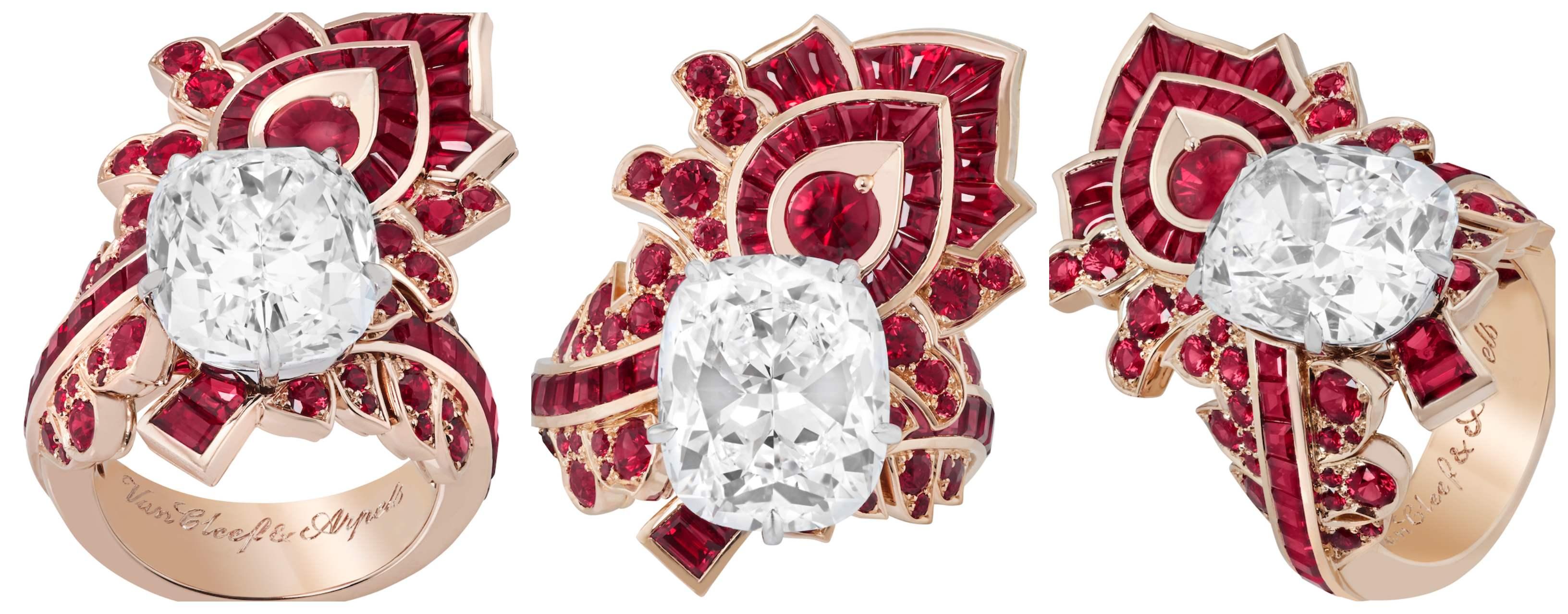 Feuille de rubis ring 2