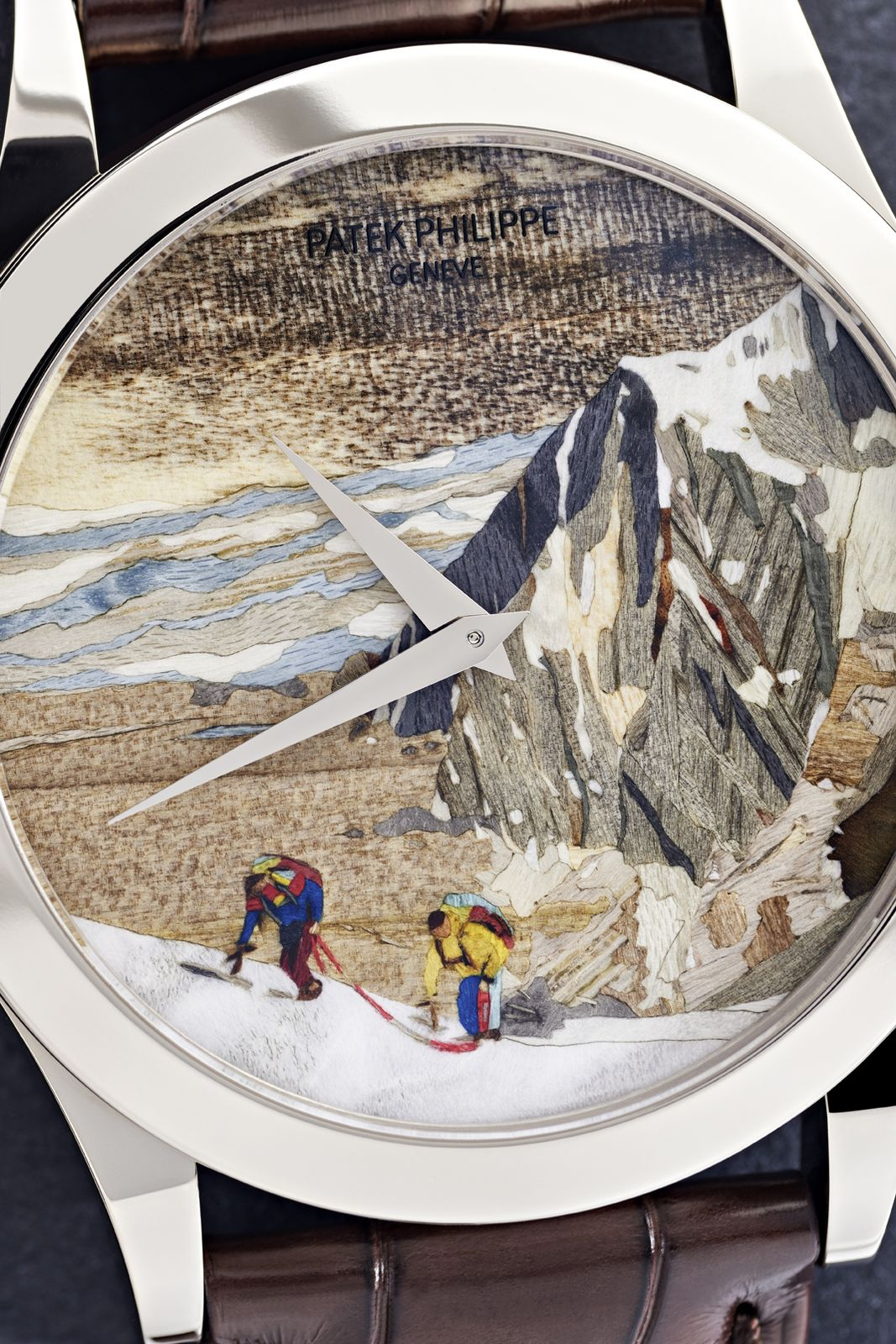 "Calatrava Ref. 5089G-059 ""Roped Alpinists"" (Photo: Patek Philippe)"