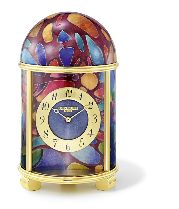 "Ref. 20058M ""Cubist Fantasy"" table clock (Photo: Patek Philippe)"