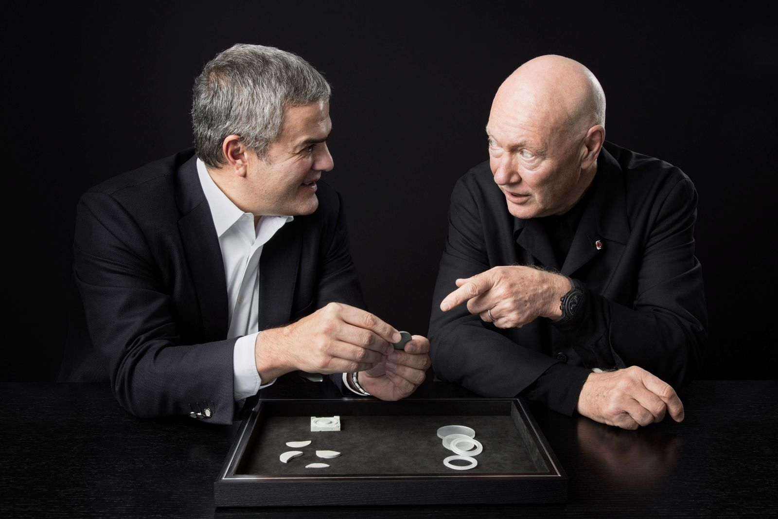 Biver with Ricardo Guadalupe, CEO of Hublot. (Photo: LVMH)