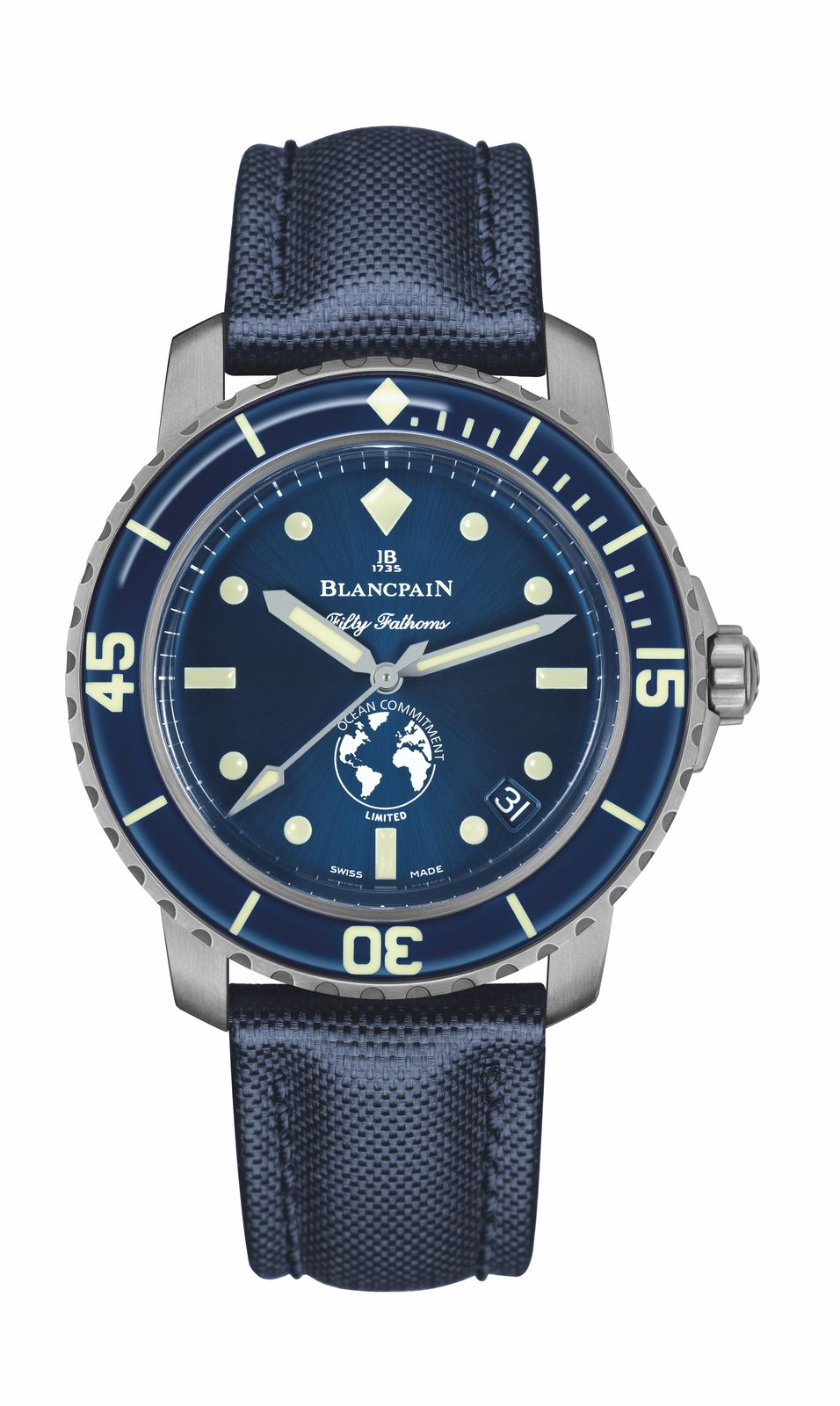 The limited edition Blancpain Ocean Commitment III timepiece. (Photo: Blancpain)