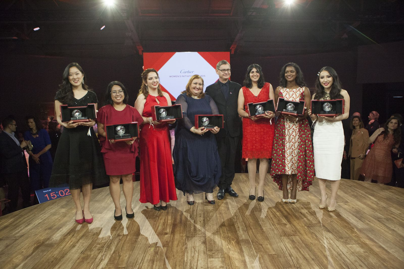 Cyrille Vigneron, CEO of Cartier International with Cartier's Women Initiative Awards 2019 laureates