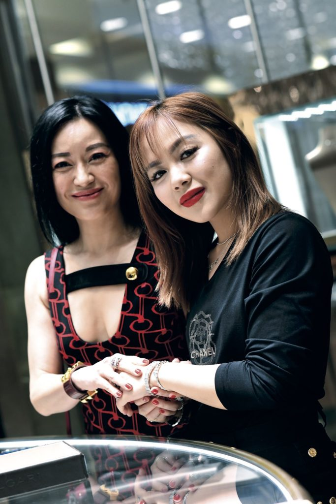 Nina and Chloe Ng Prestige Bvlgari
