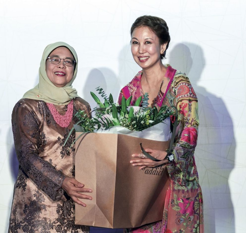 Halimah Yacob and June Goh-Rin SCWO International Women's Day Gala