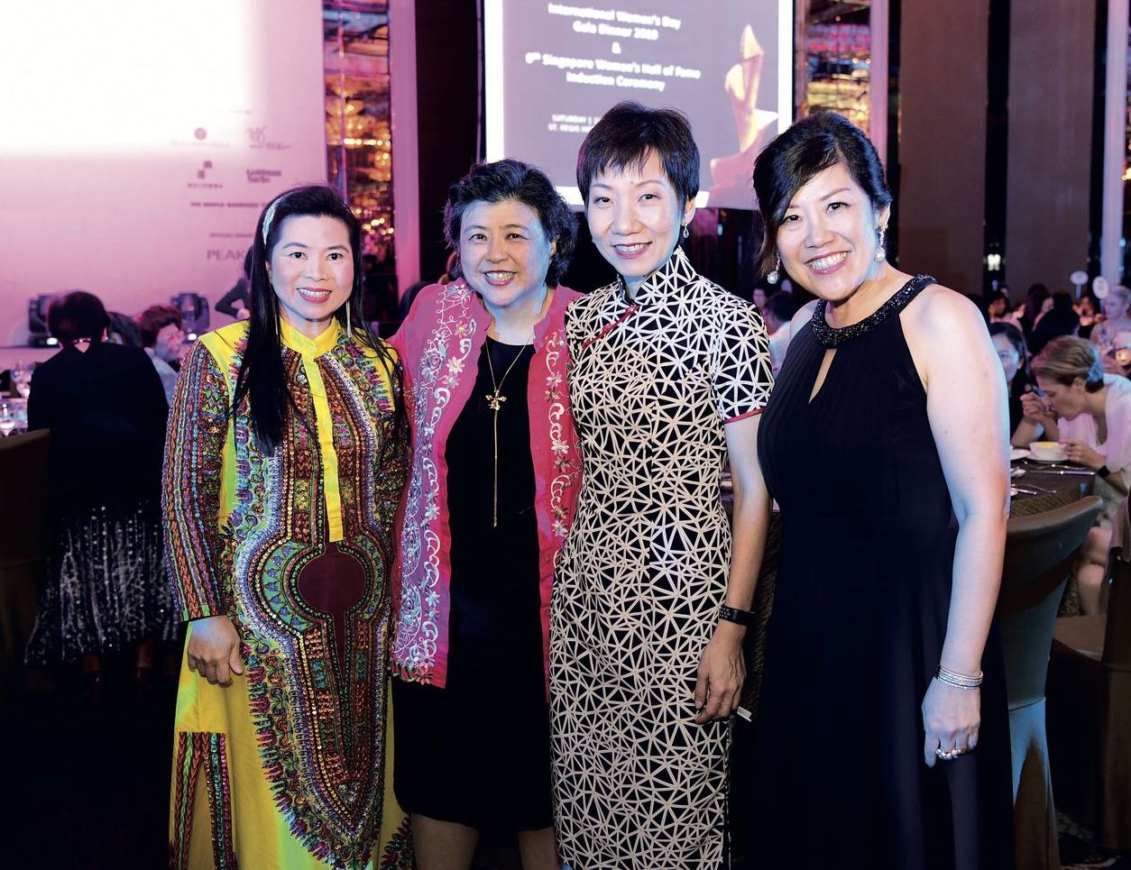 Joanna Portilla, Yeo Mui Ean, Grace Foo and Tan Yen Yen SCWO International Women's Day Gala