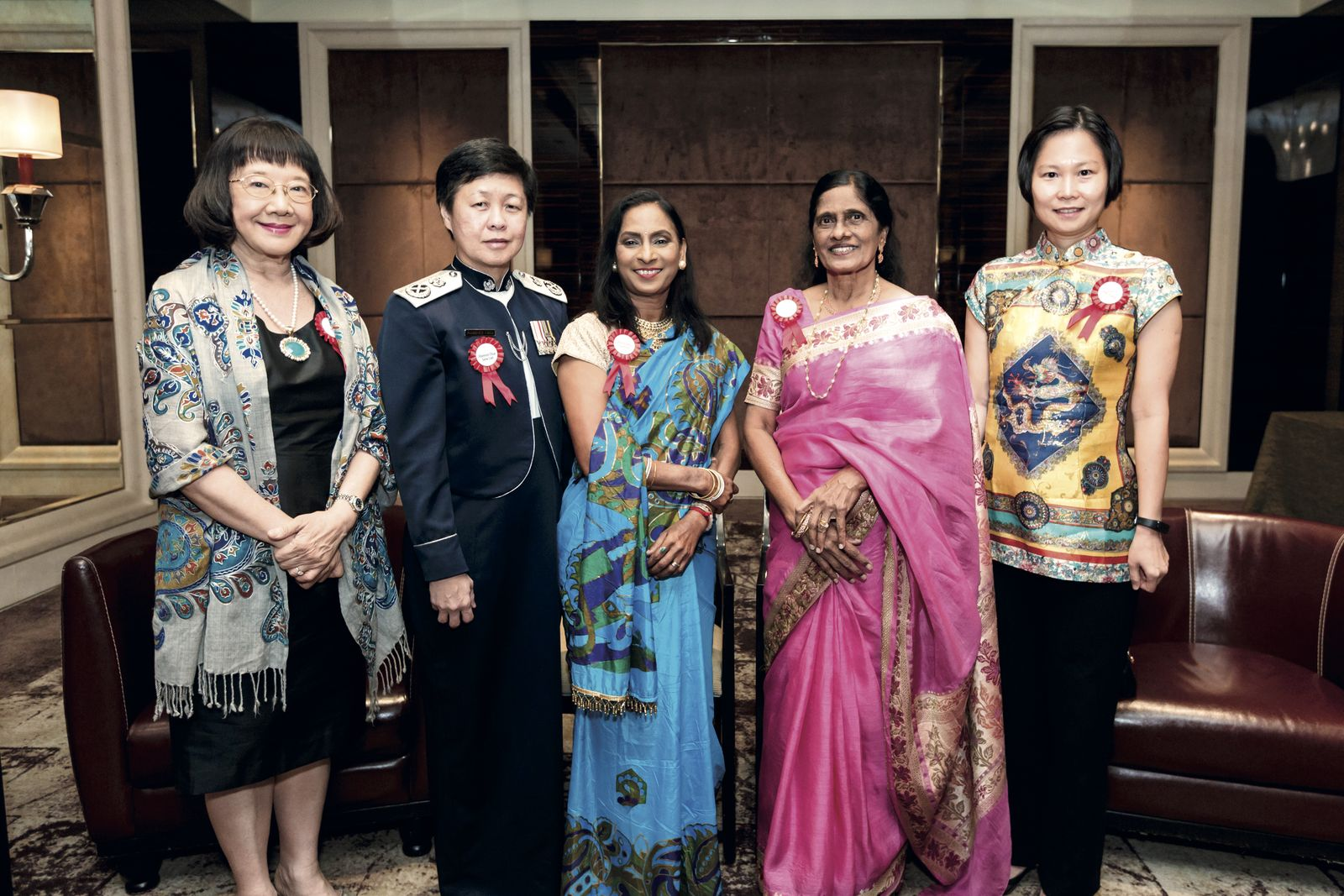 Tham Yew Chin, Florence Chua, Kandasamy Jayamani, Glory Barnabas and Gan Siow Huang SCWO International Women's Day Gala