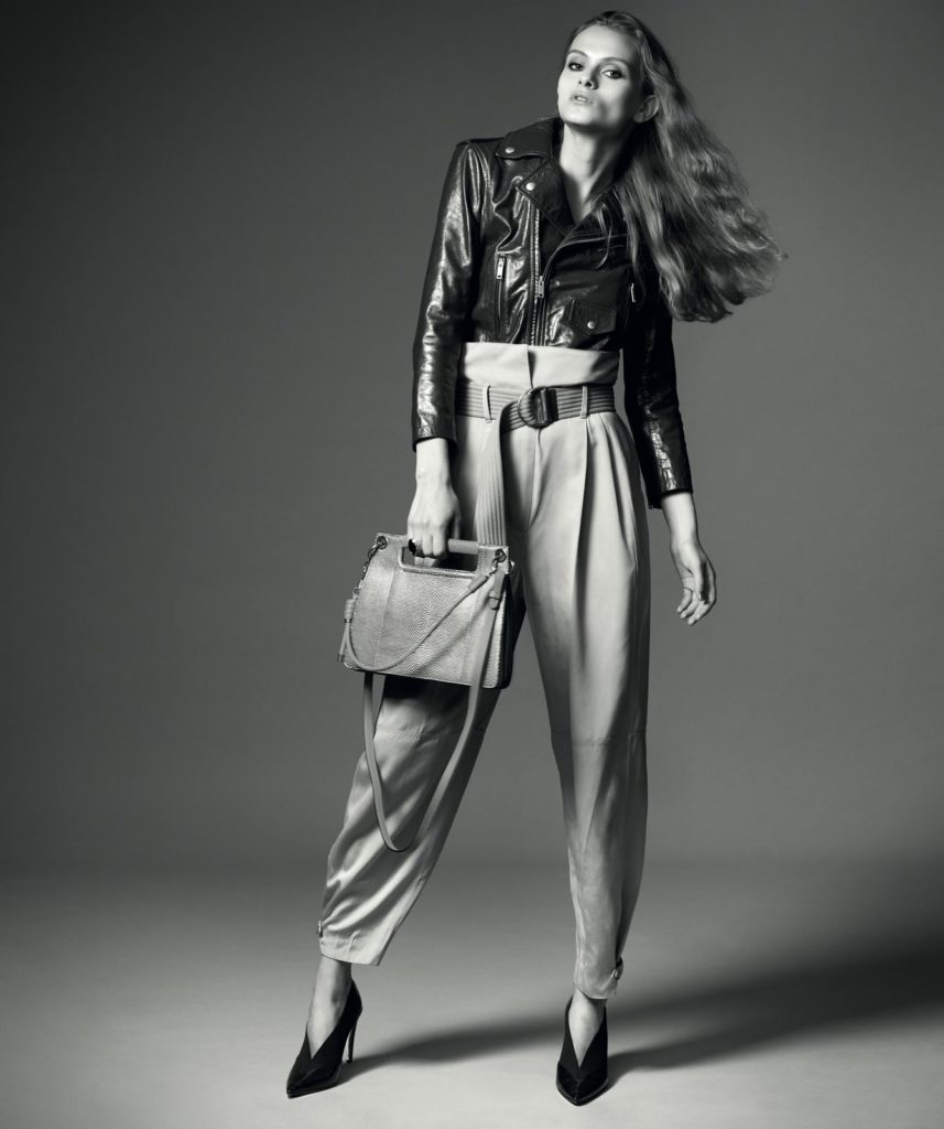Belle de jour The french connection Biker jacket, trousers, belt, ring, bag and shoes, all Givenchy. (Photo: Joel Low)