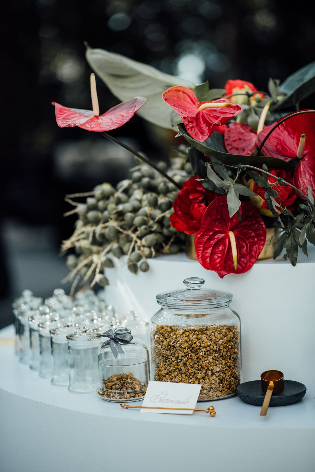 Using only the most premium leaves the bespoke tea from Monogram by the Gryphon Tea were meticulously blended specific to the client's taste. (Photo: HSBC)