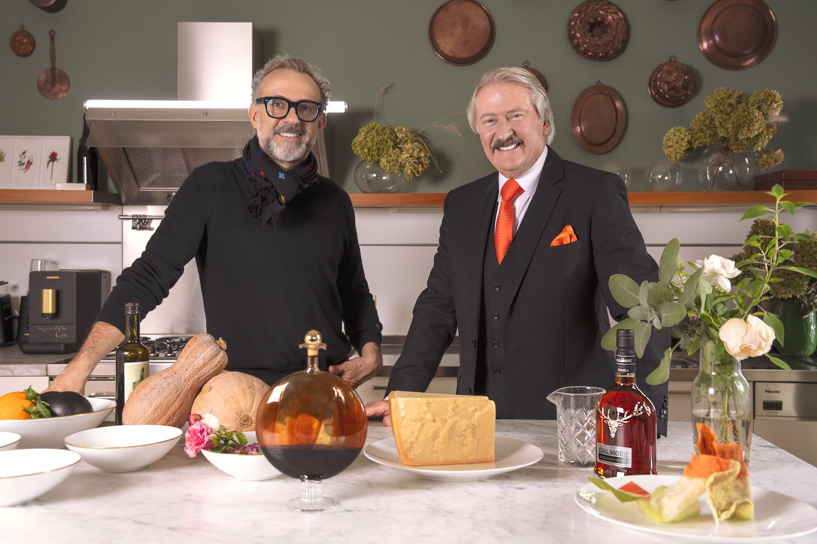 Massimo Bottura and Richard Paterson. (Photo: The Dalmore)