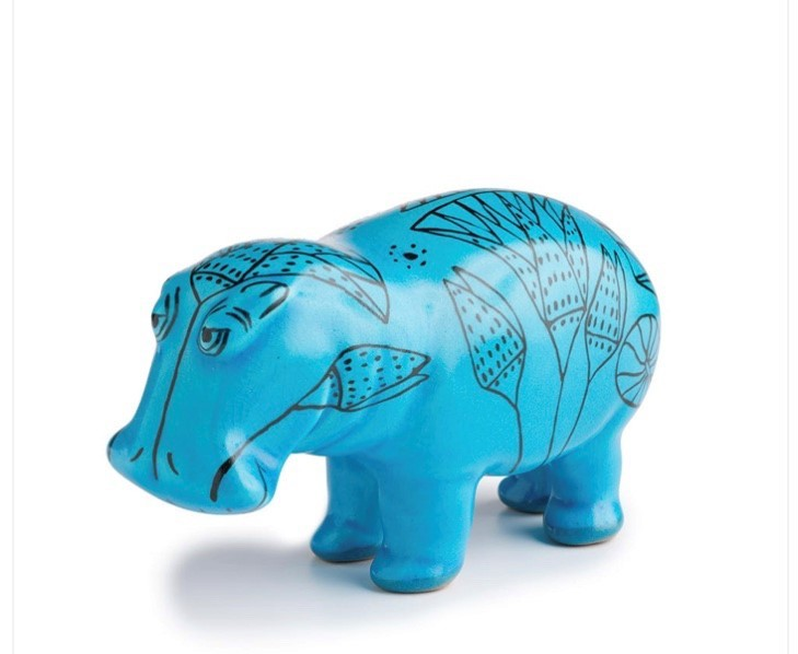 home decor hippopotamus sculpture