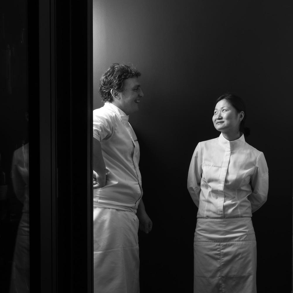 Chefs Chiho Kanzaki and Marcelo di Giacomo