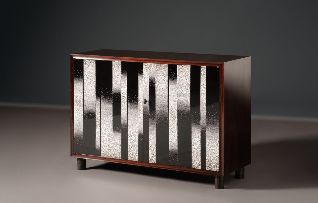 Alexander Lamont, Peninsula Collection, Alexander Lamond collection, eggshell lacquer, straw marquetry