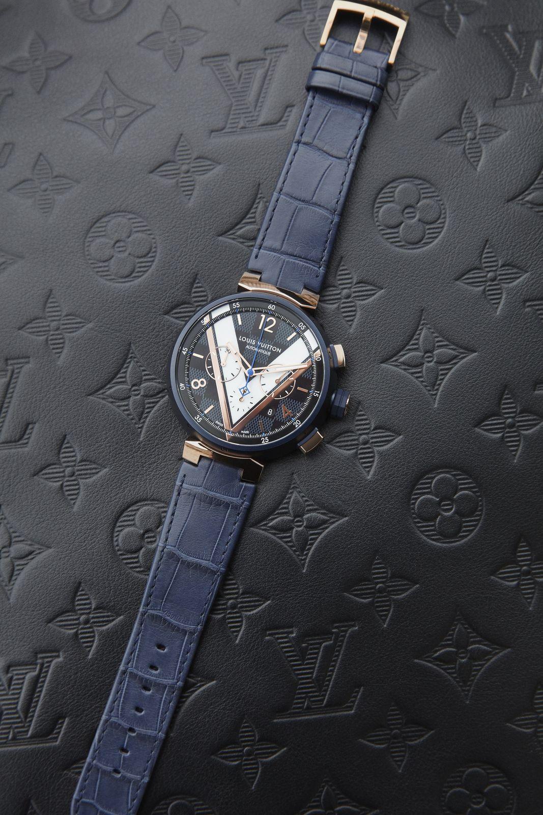Louis Vuitton launches Tambour Damier Cobalt Chronograph