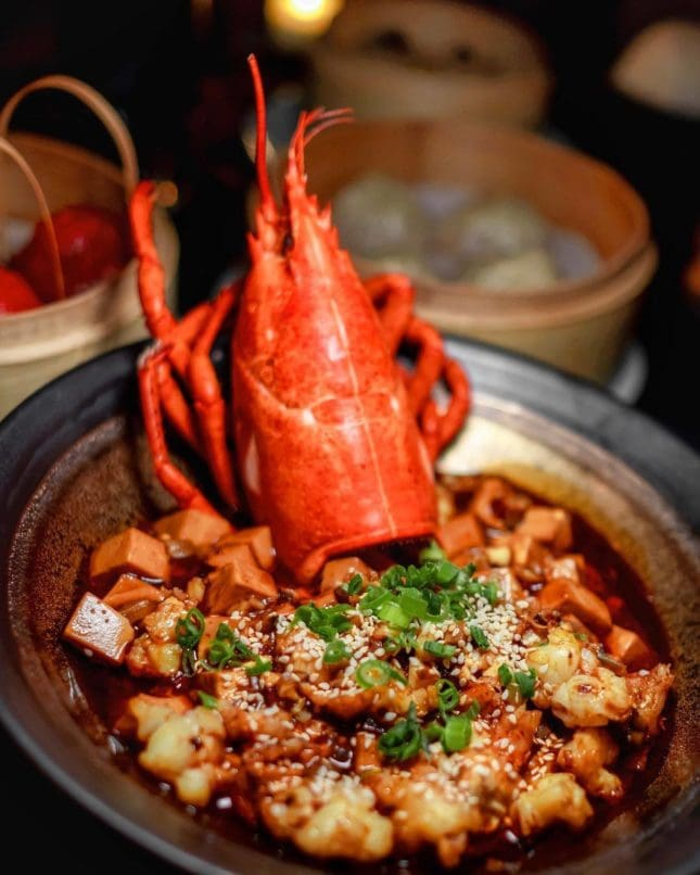 Lobster Mapo Tofu at Mott 32 Las Vegas (Photo: Mott 32)