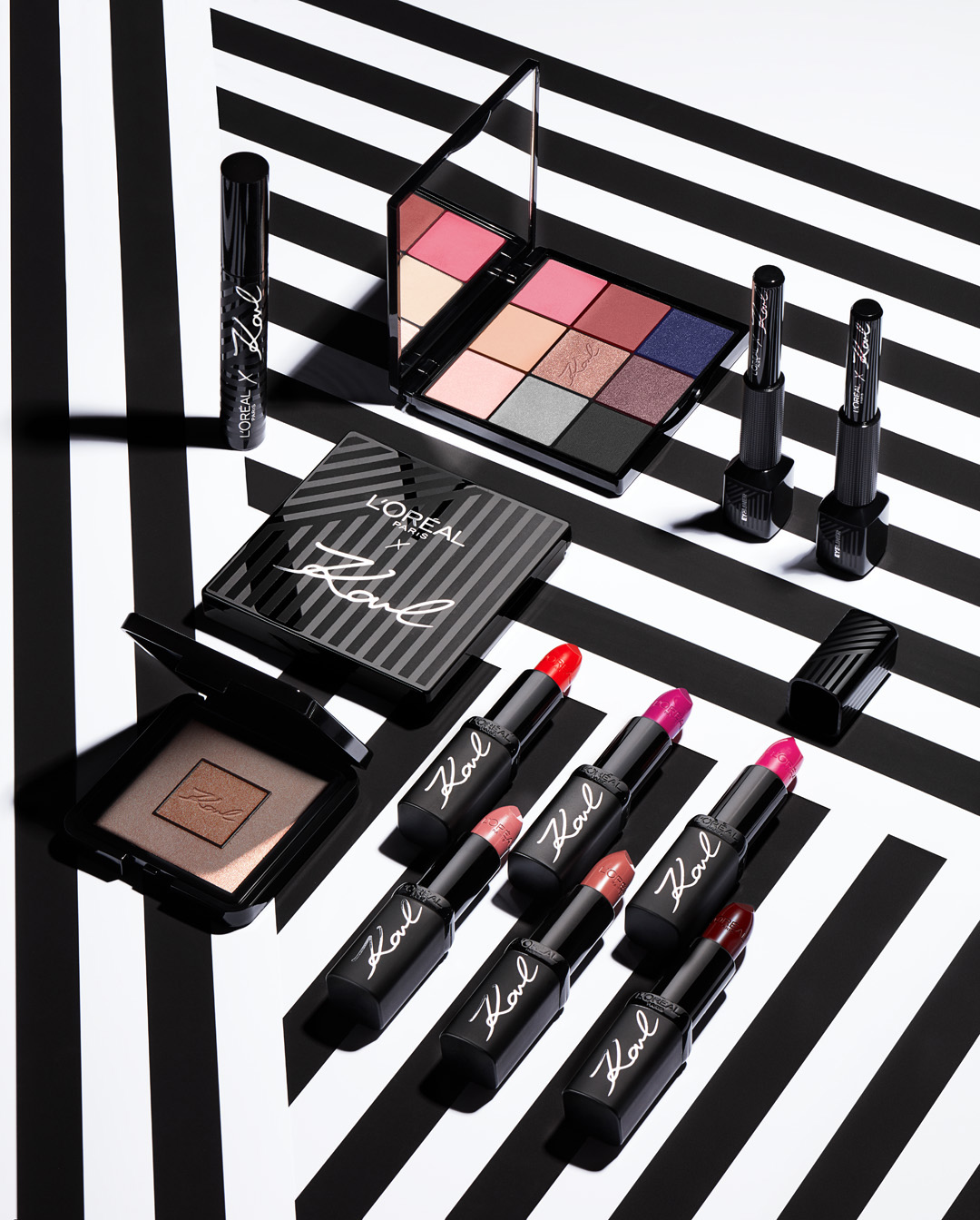 First look at Karl Lagerfeld x L'Oréal Paris collaboration