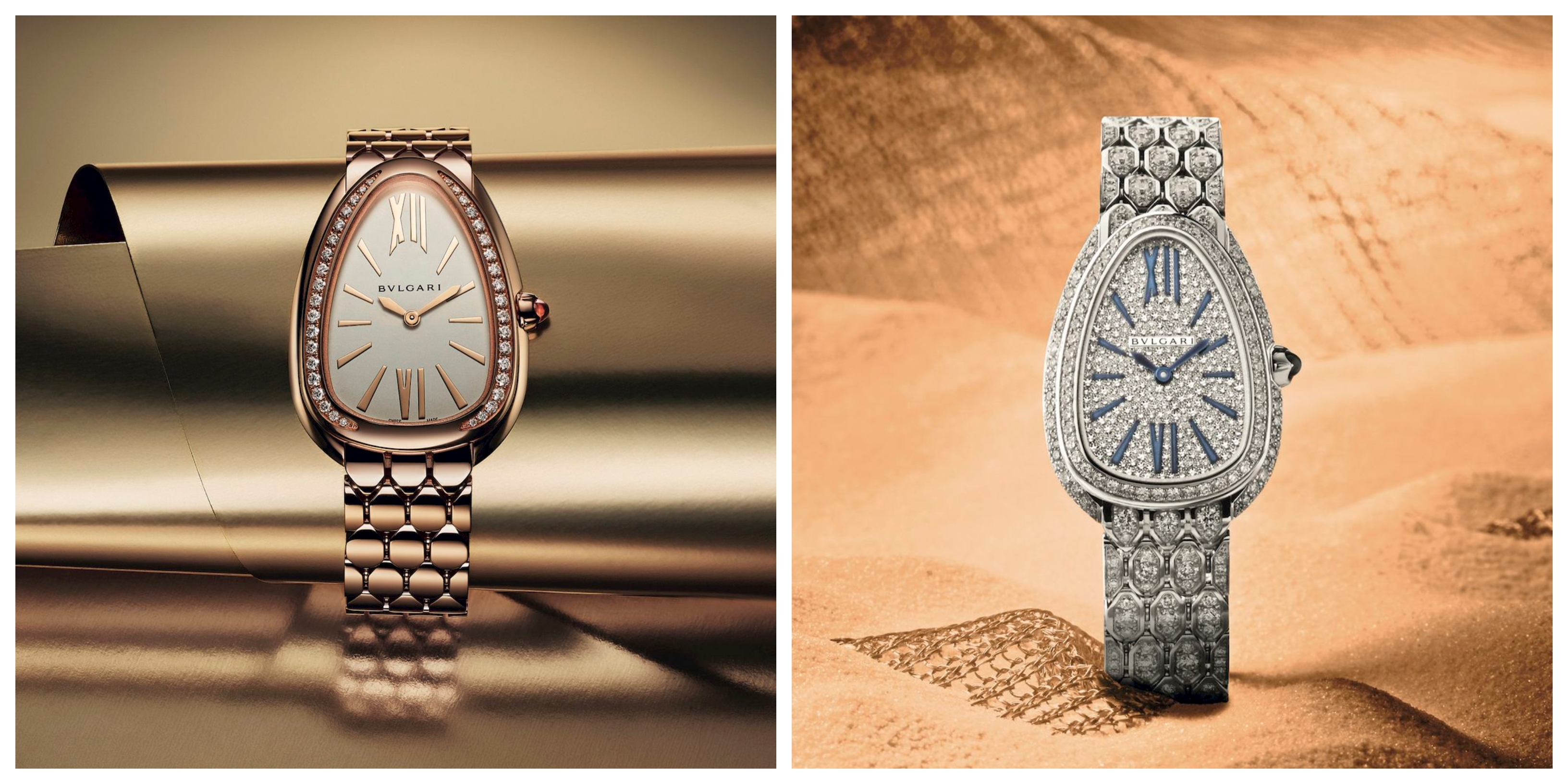 The serpent takes different forms in Bvlgari's jewellery watches under the Serpenti line.