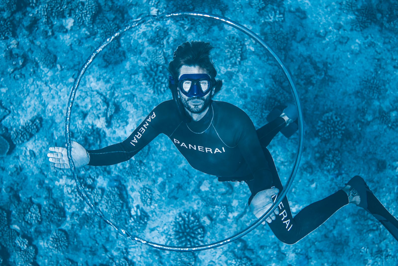 Panerai and freediving champ Guillaume Néryh take the concept of luxury experiences to new depths