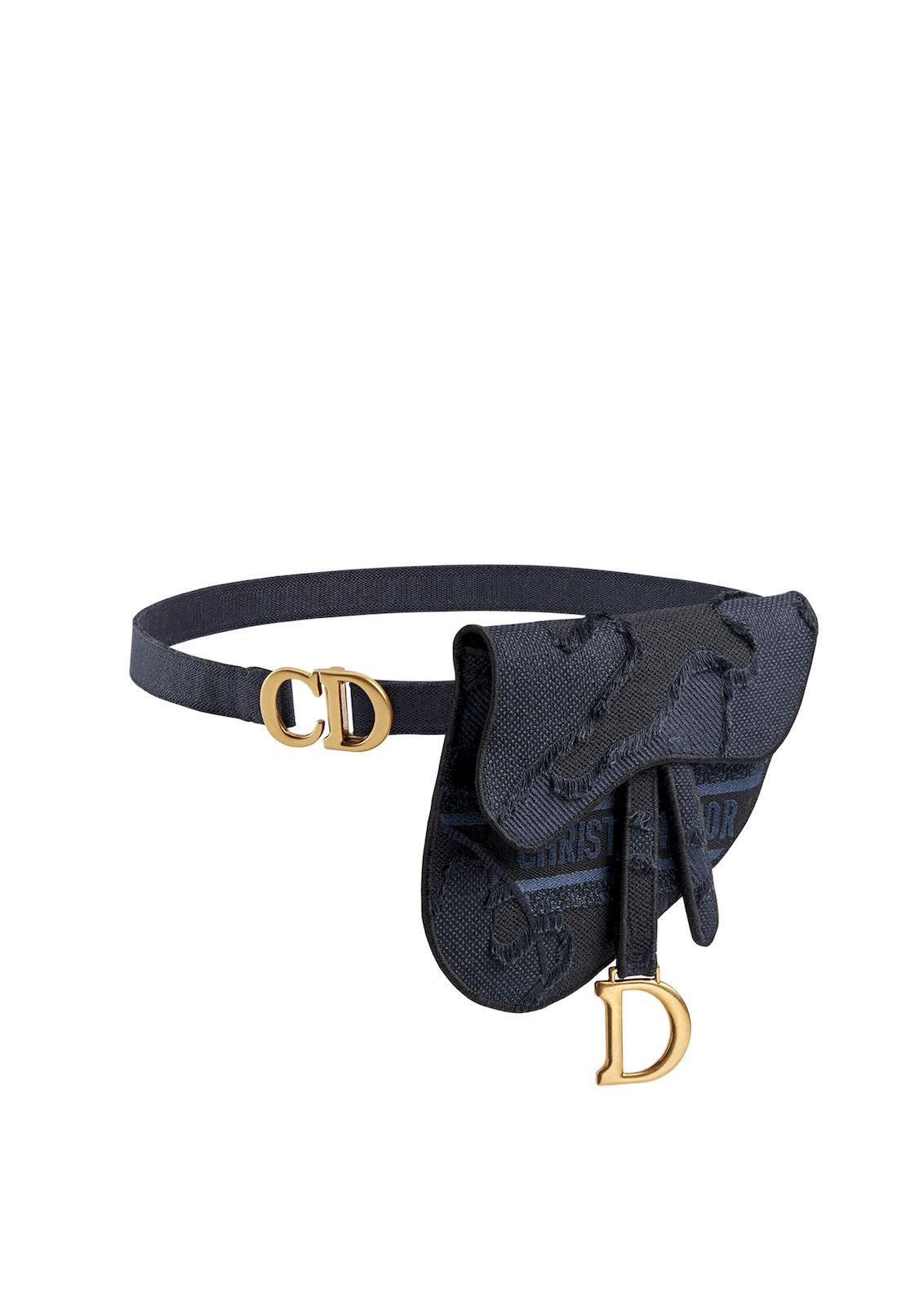 Dior saddle belt bag blue
