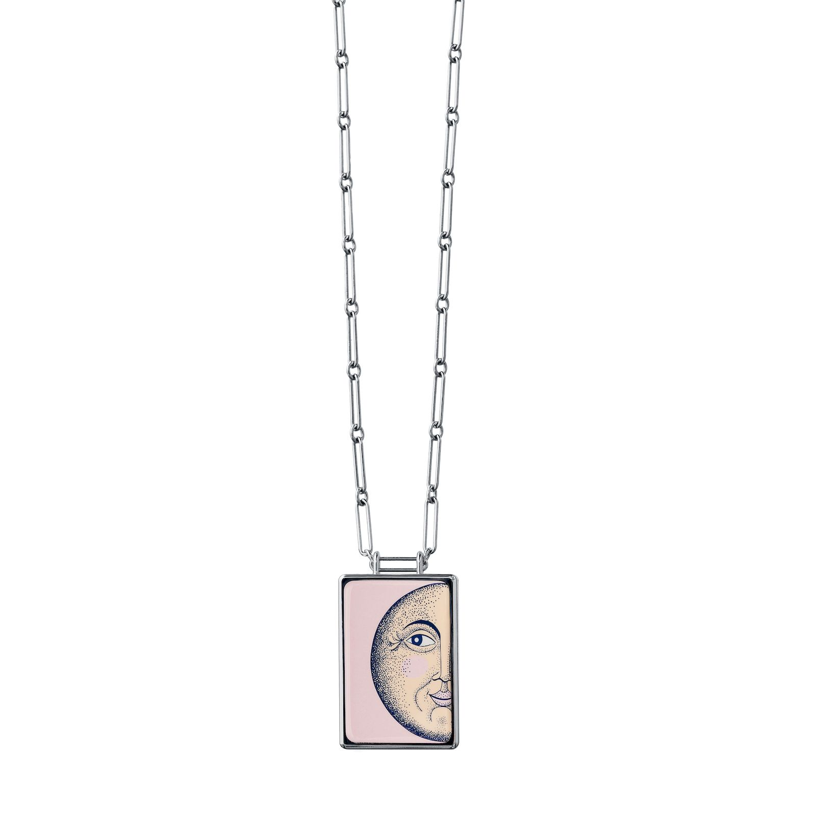 Hermes pendant in enamelled steel
