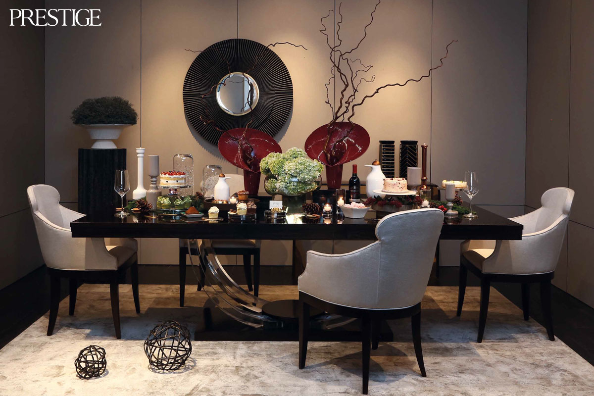 Christmas Table Setting by Claudia Halim and Klots Team
