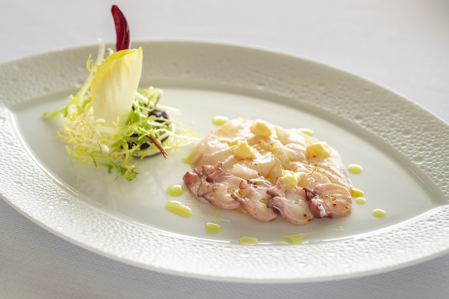 Le Normandie_Chef Alain Roux_Ceviche of seabass