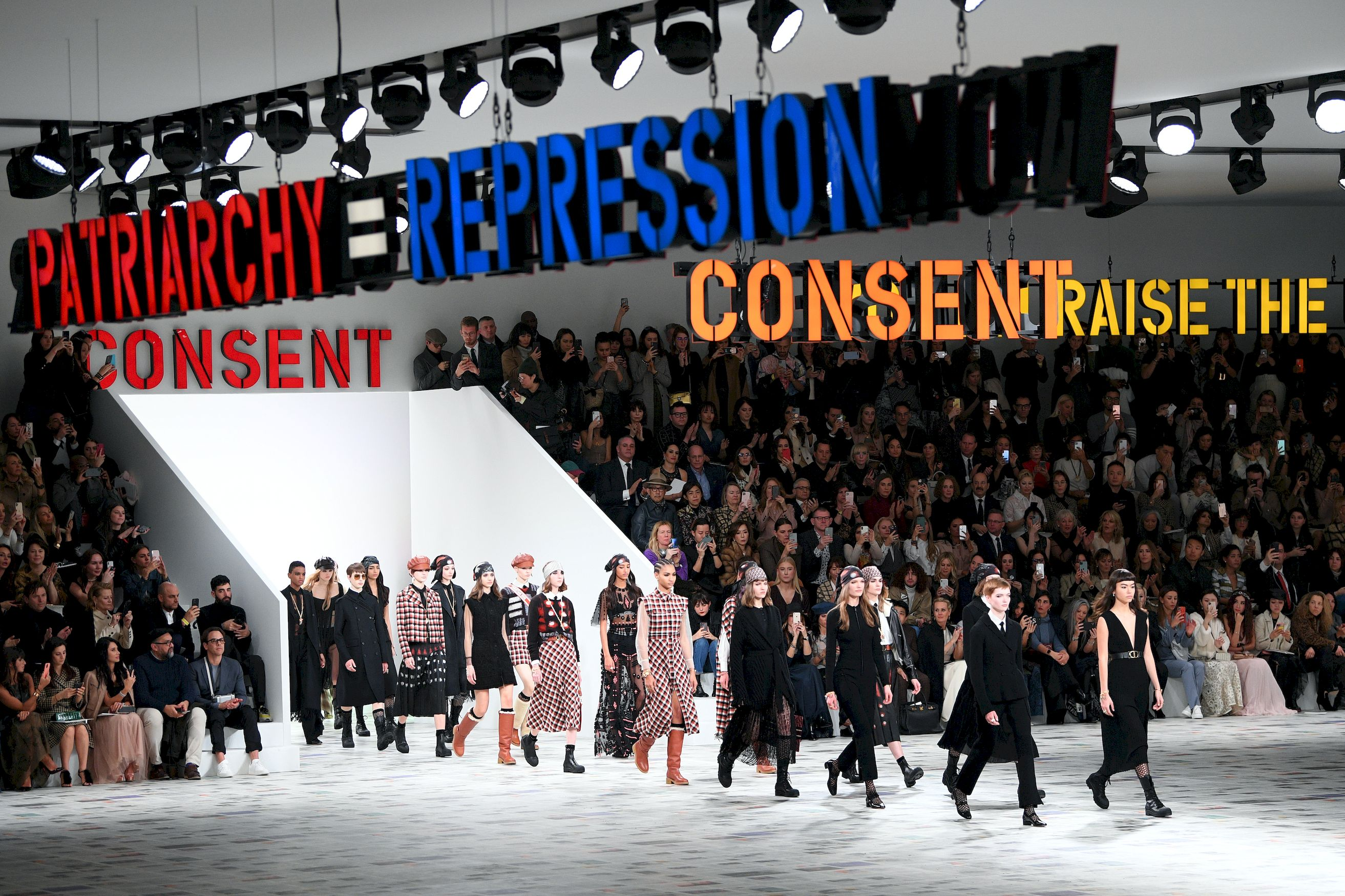 Feminism meets the seventies at Dior's Fall/Winter 2020 show