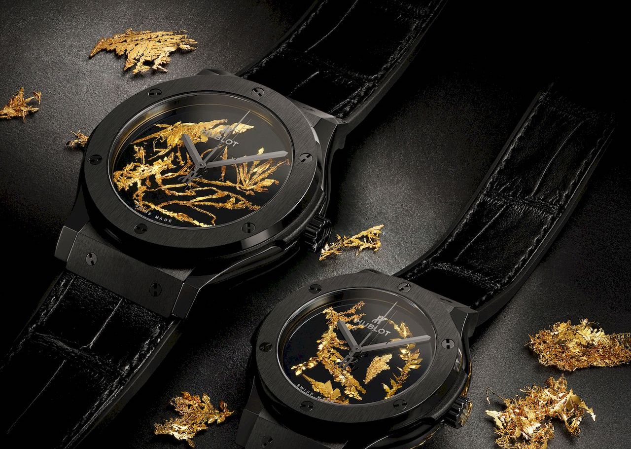 Hublot recreates gold crystal for its latest timepiece
