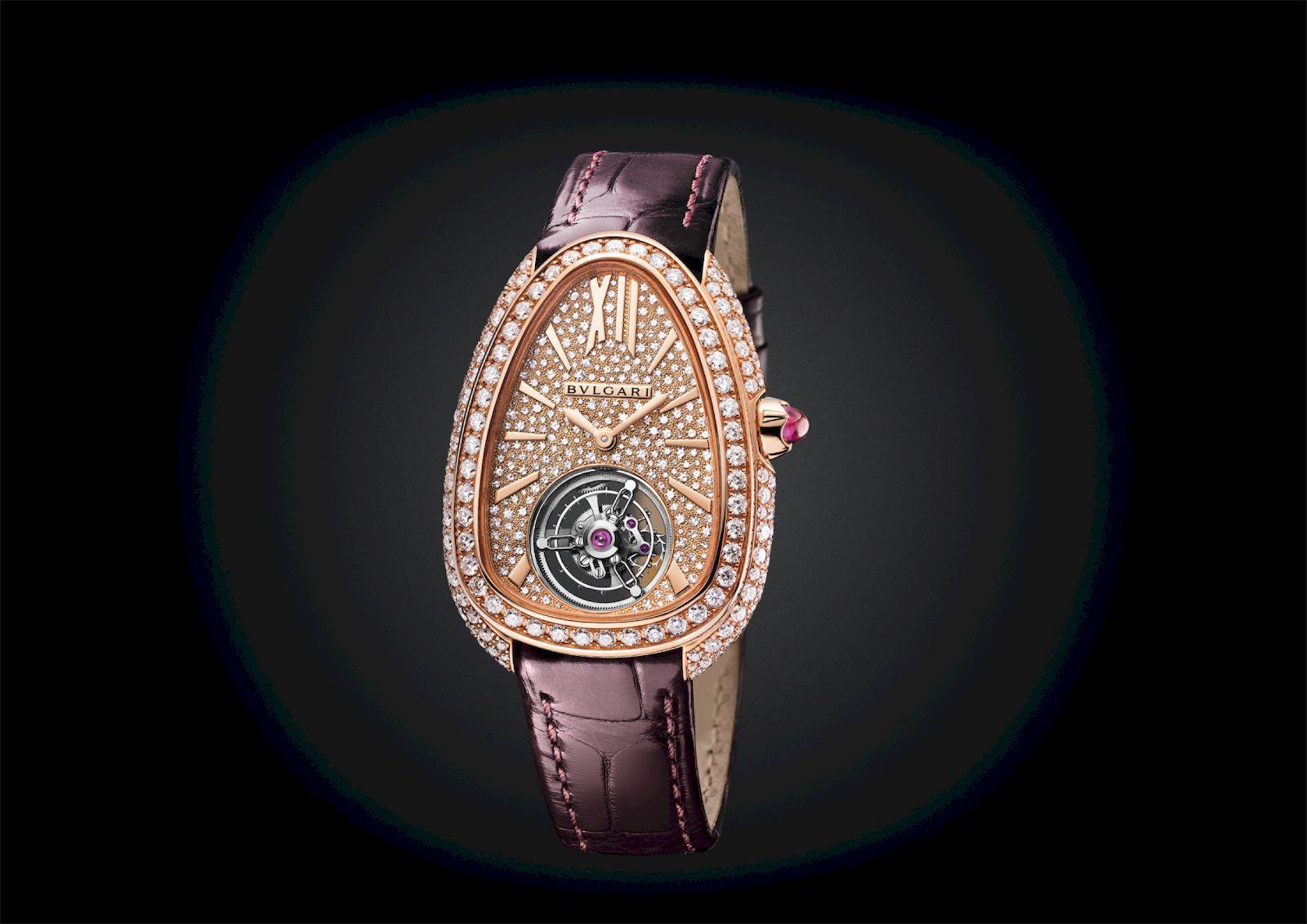 The Bvlgari Serpenti Seduttori Tourbillon is the world's smallest women's tourbillon timepiece